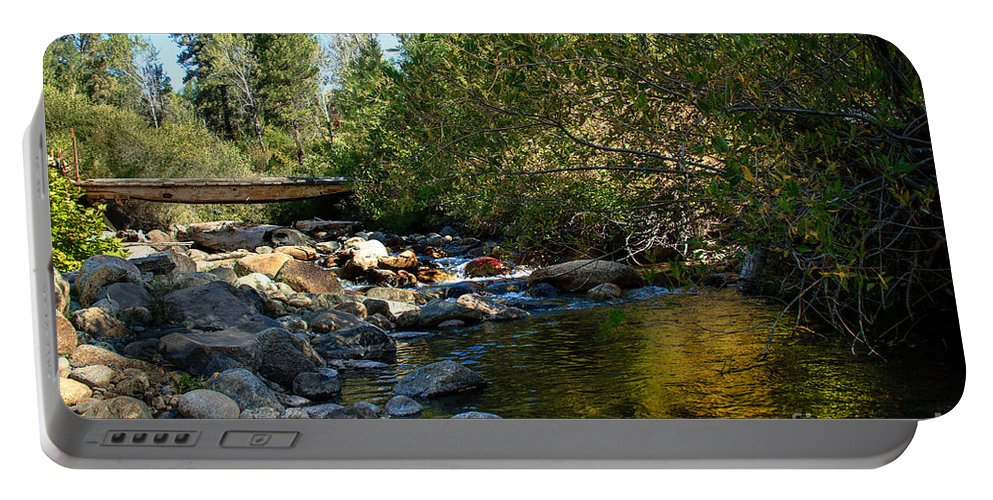 Stream Portable Battery Charger featuring the photograph Old Bridge by Robert Bales