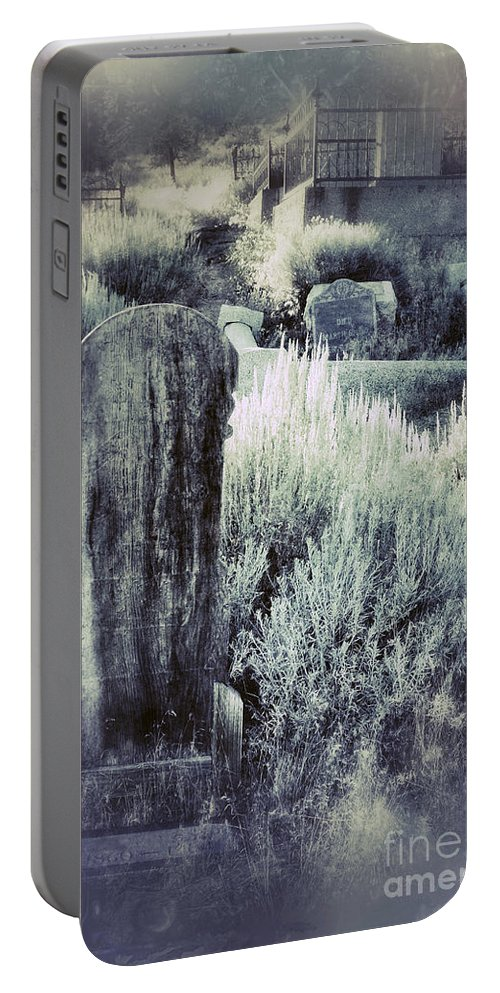Iron Portable Battery Charger featuring the photograph Old Cemetery On A Hill by Jill Battaglia