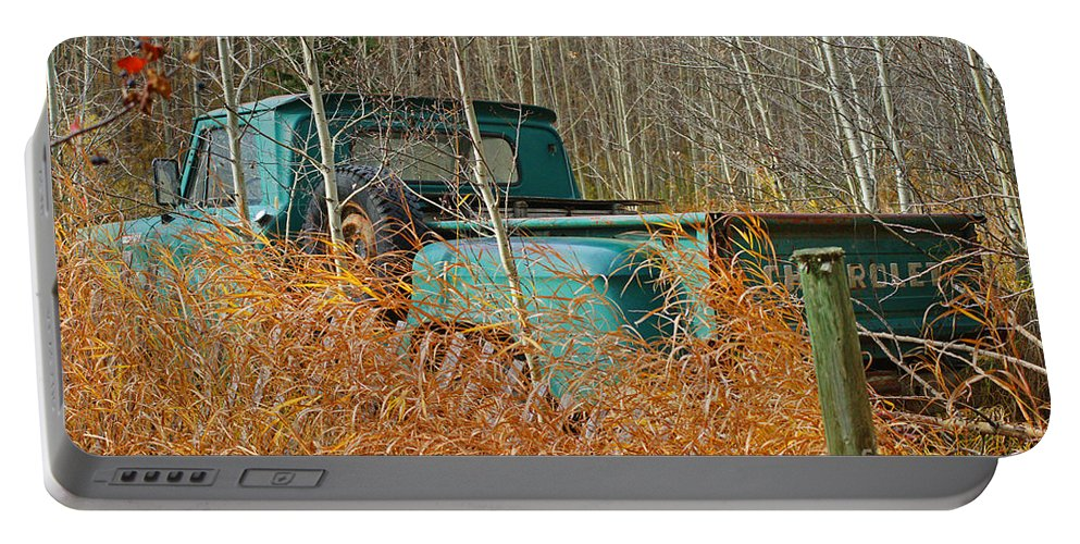 Old Truck Portable Battery Charger featuring the photograph Old Chevy In The Field by Randy Harris