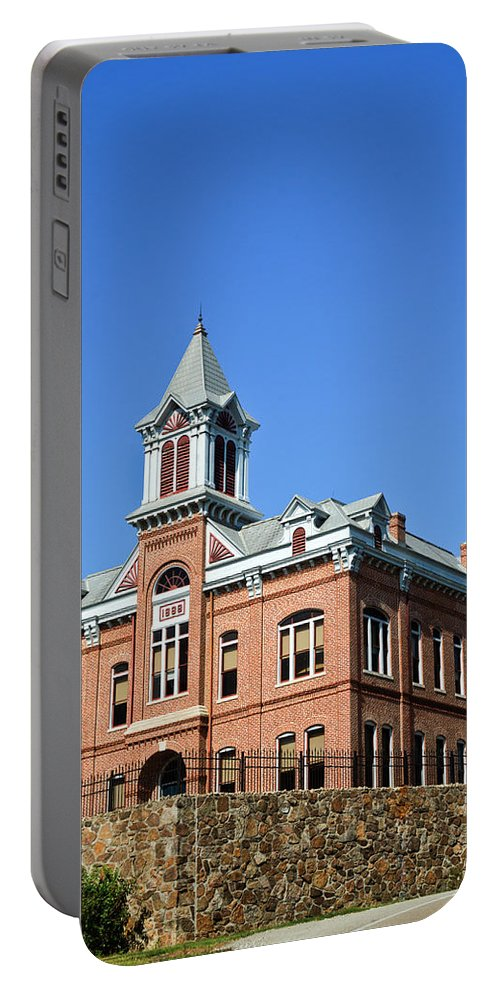 Powhatan Portable Battery Charger featuring the photograph Old Courthouse Powhatan Arkansas 1 by Douglas Barnett