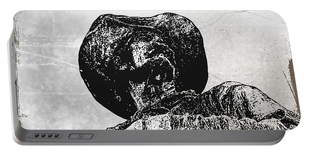 Cowboy Portable Battery Charger featuring the photograph Old Cowboy by Bill Cannon