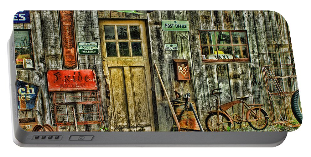 Old Buildings Portable Battery Charger featuring the photograph Old General Store Hdr by Randy Harris