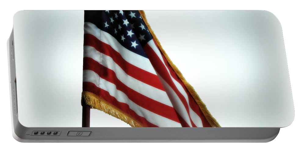 Flag Portable Battery Charger featuring the photograph Old Glory by Kimberly Perry