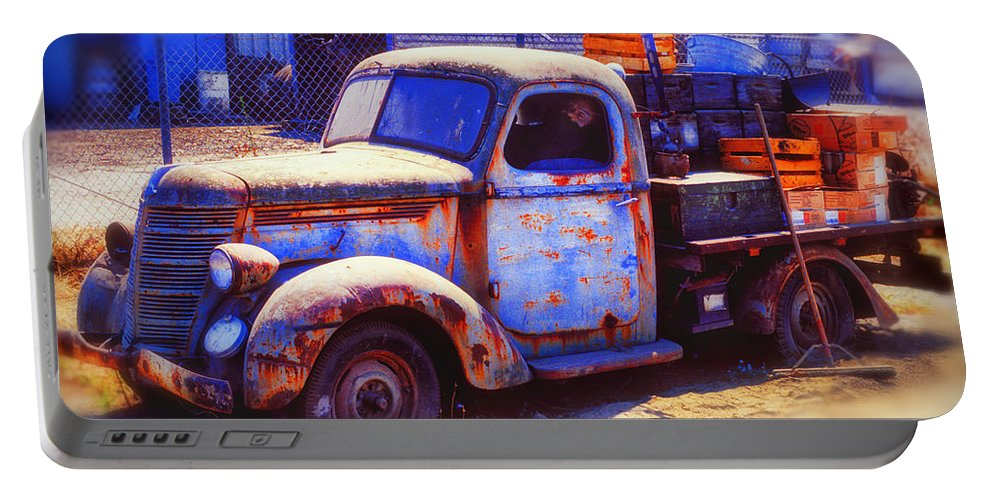 Truck Portable Battery Charger featuring the photograph Old Junk Truck by Garry Gay