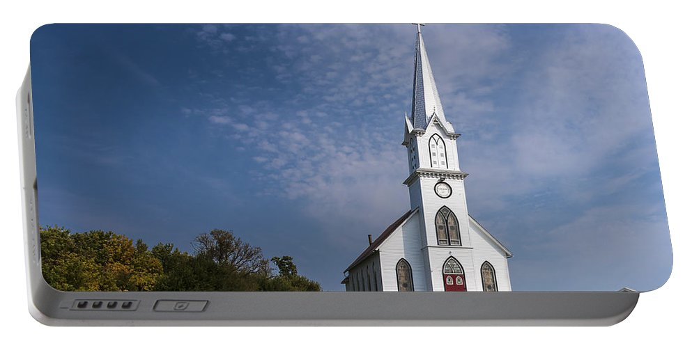 Country Church Portable Battery Charger featuring the photograph Old Time Religon by Edward Peterson