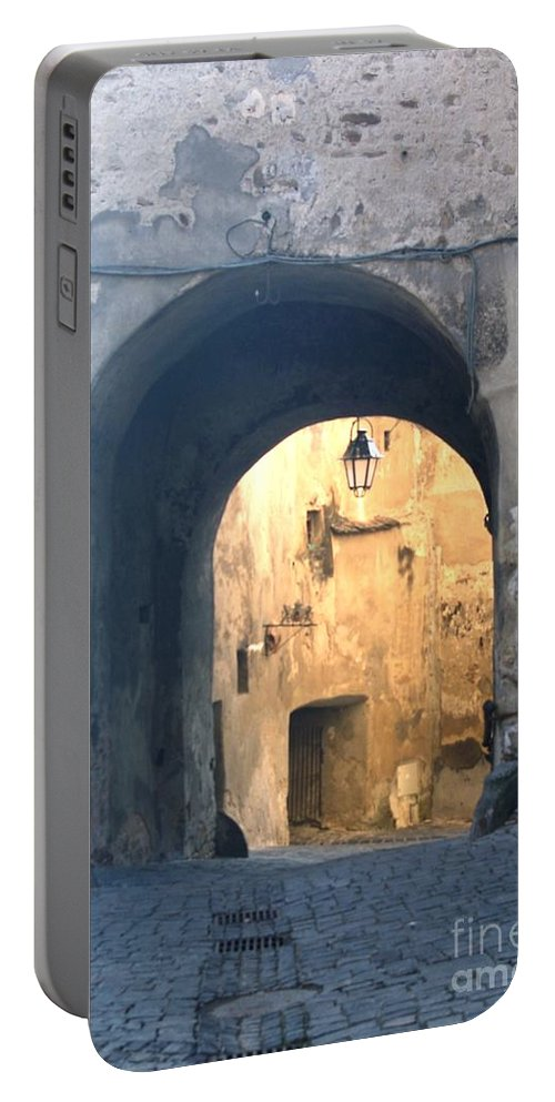 Sighisoara Portable Battery Charger featuring the photograph Old town gate 1 by Amalia Suruceanu