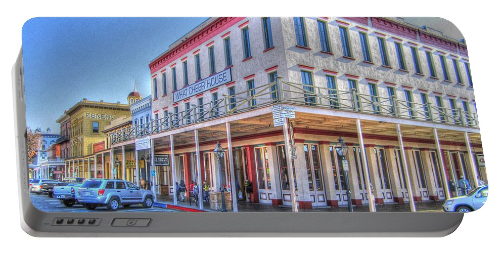 Street Corner Portable Battery Charger featuring the photograph Old Towne Sacramento by Barry Jones