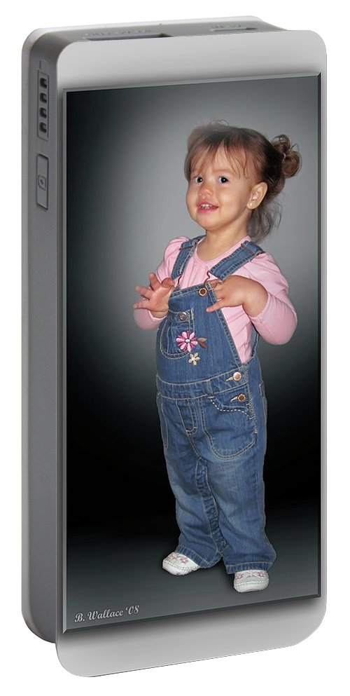 2d Portable Battery Charger featuring the photograph Olivia by Brian Wallace