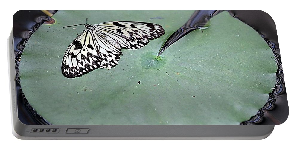 Butterfly Portable Battery Charger featuring the photograph Once Upon A Lily by Elizabeth Winter
