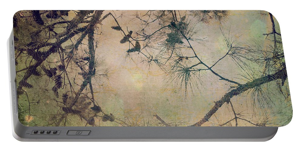 Pine Tree Portable Battery Charger featuring the photograph One Autumn Day by Sharon Kalstek-Coty