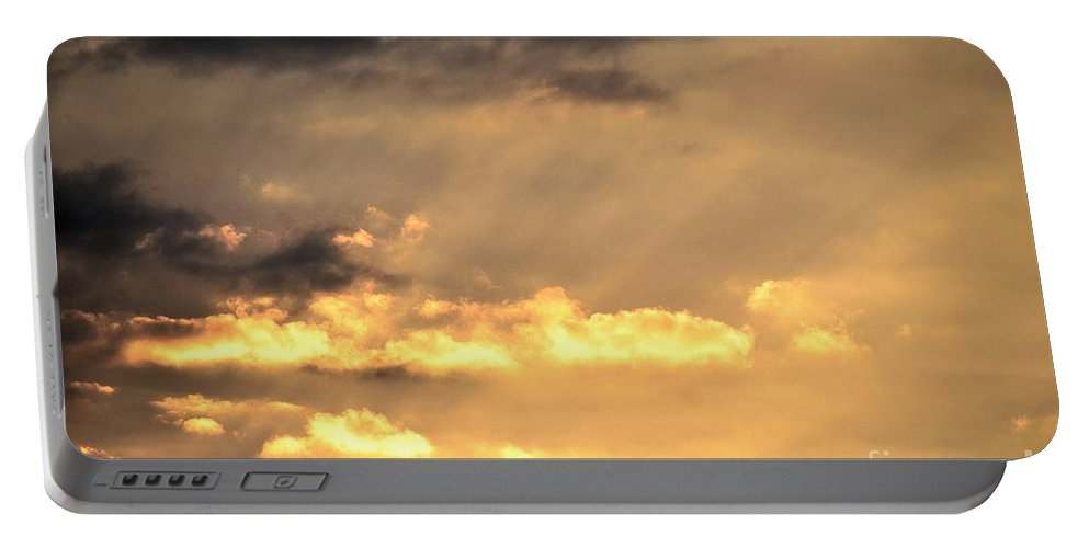 One Portable Battery Charger featuring the photograph One September Dawn by Maria Urso