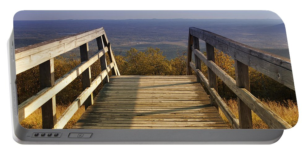 Altitude Portable Battery Charger featuring the photograph One Small Step For Man by Ricky Barnard