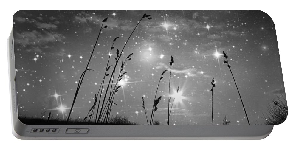 Surrealism Art Portable Battery Charger featuring the photograph Only The Stars And Me by Marianna Mills