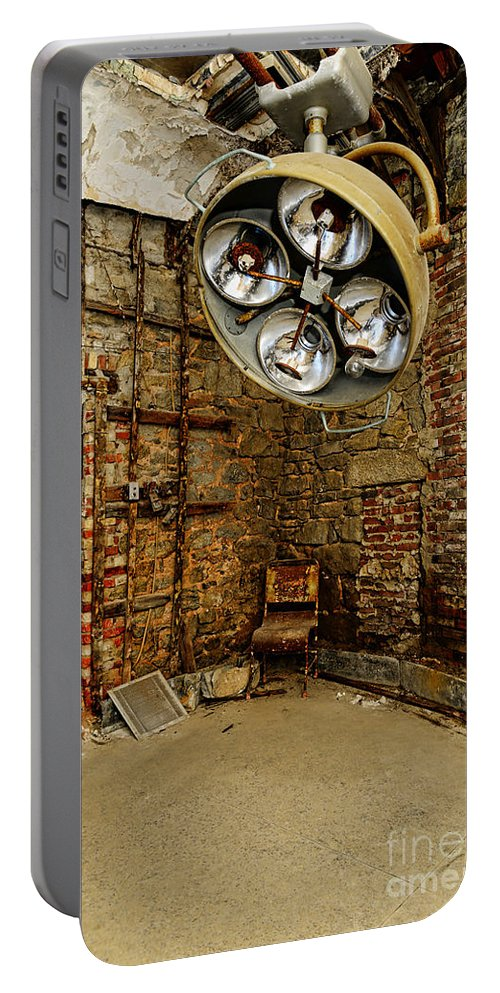 Operating Room - Eastern State Penitentiary Portable Battery Charger featuring the photograph Operating Room - Eastern State Penitentiary by Paul Ward
