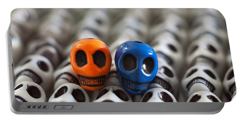 Smiles Portable Battery Charger featuring the photograph Orange And Blue by Mike Herdering