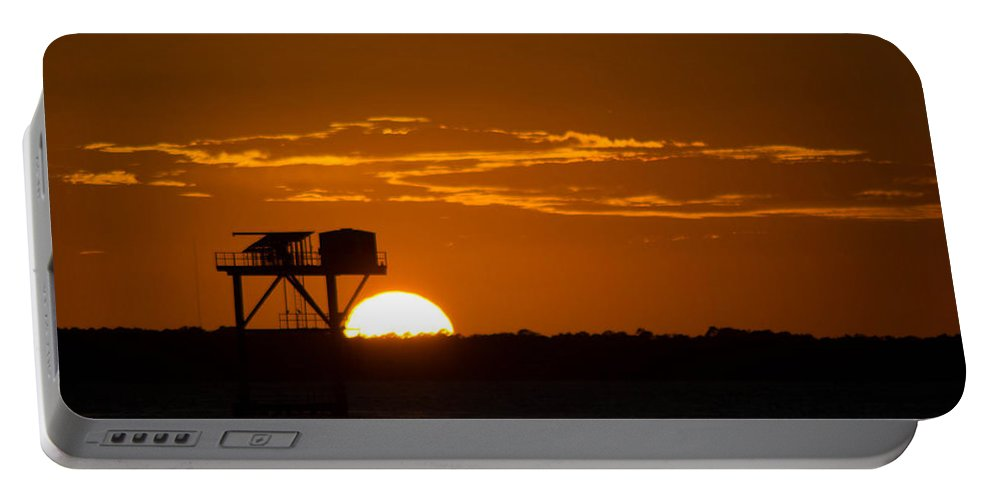 Orange Portable Battery Charger featuring the photograph Orange Sunset by Shannon Harrington