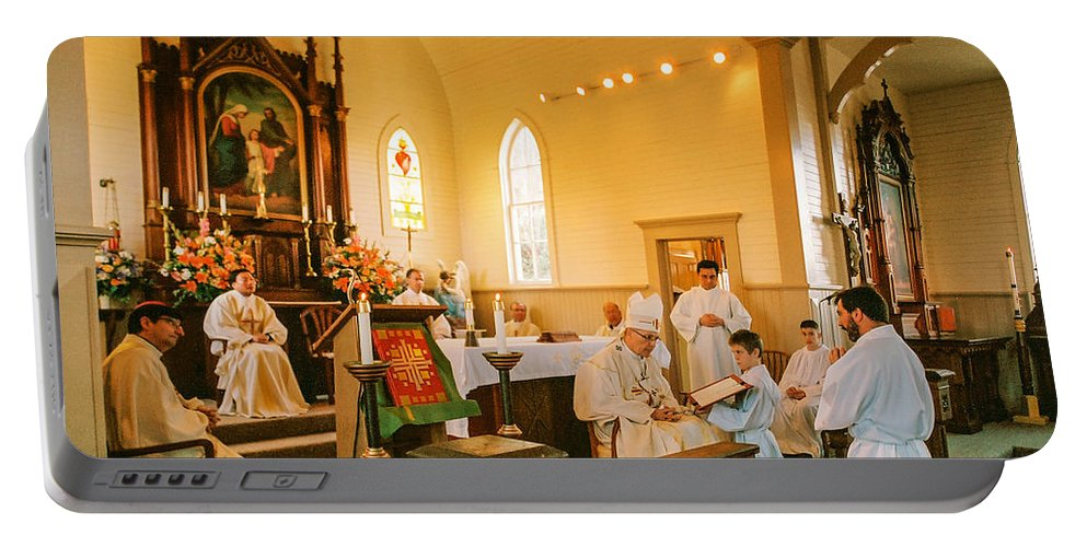 Ordination Portable Battery Charger featuring the photograph Ordination 3 by Mike Penney