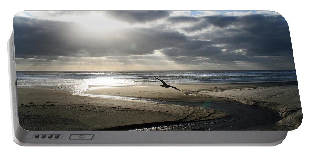 Oregon Portable Battery Charger featuring the photograph Oregon Coast by Elizabeth Rose
