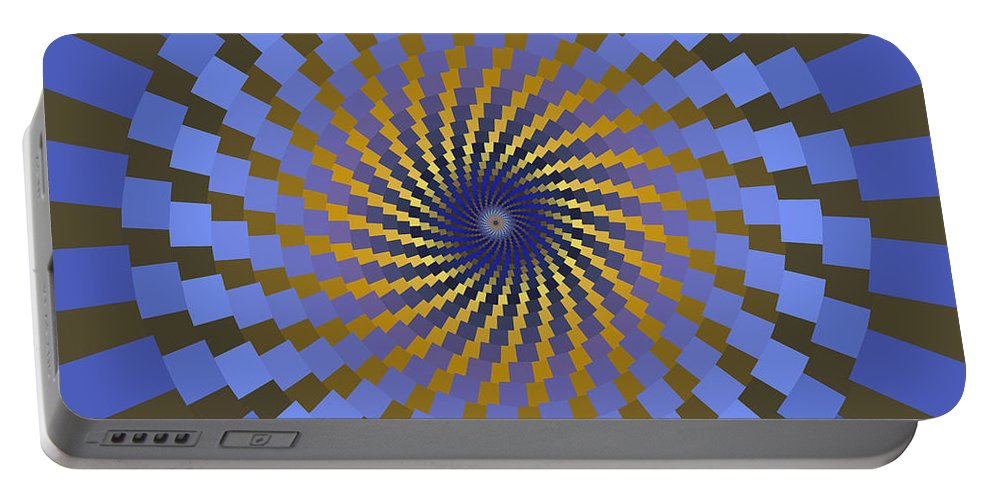 Fractal Portable Battery Charger featuring the digital art Ornament 2 by Mark Greenberg