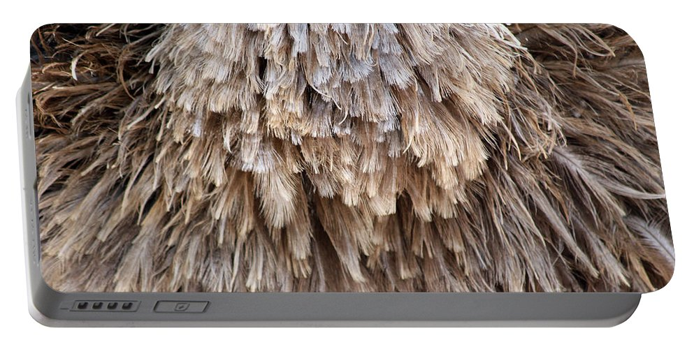 Female Portable Battery Charger featuring the photograph Ostrich Fluff by Alycia Christine