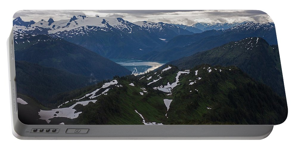 Frederick Sound Portable Battery Charger featuring the photograph Over Alaska by Mike Reid