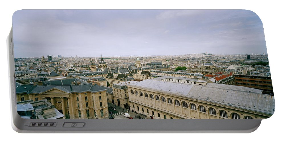 Paris Portable Battery Charger featuring the photograph Looking Over Paris by Shaun Higson