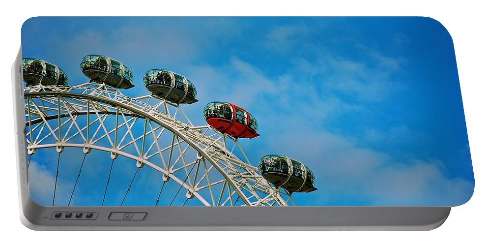 London Eye Portable Battery Charger featuring the photograph Over The Top by Eric Tressler