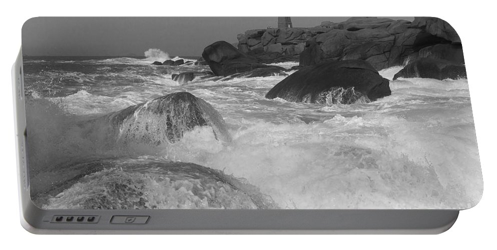 France Portable Battery Charger featuring the photograph Overflooding Black And White by Heiko Koehrer-Wagner