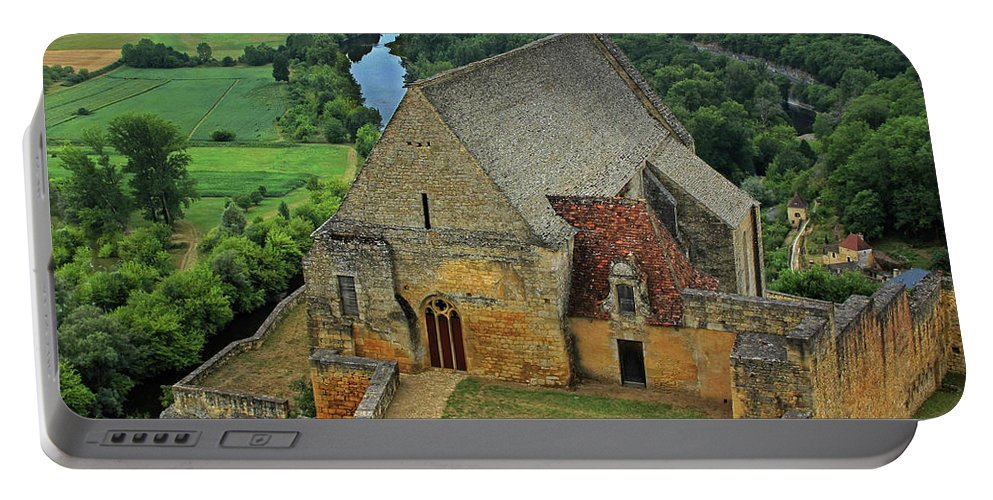 France Portable Battery Charger featuring the photograph Overlooking The French Countryside by Dave Mills