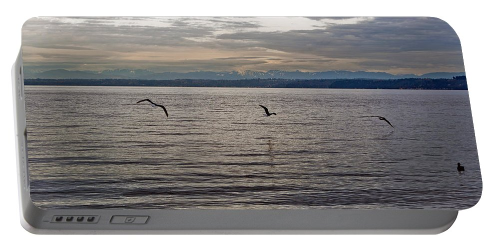 Puget Sound Portable Battery Charger featuring the photograph Owen Beach by Tikvah's Hope