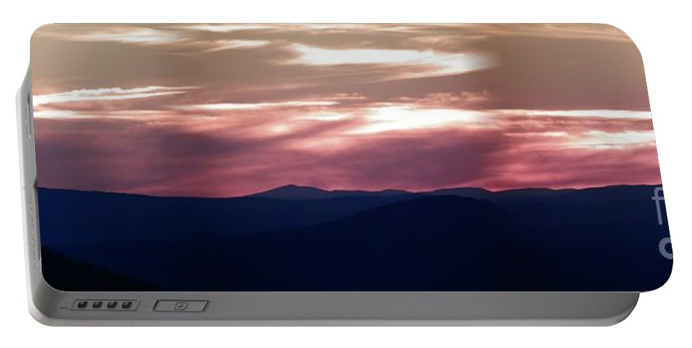 Panoramic Portable Battery Charger featuring the photograph Ozark Dusk by Charleen Treasures