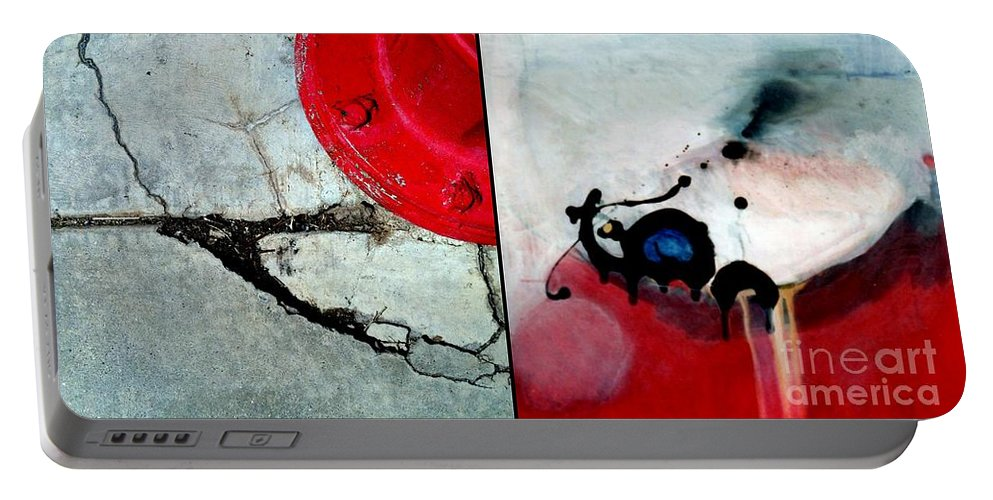 Marlene Burns Portable Battery Charger featuring the painting p HOTography 36 by Marlene Burns