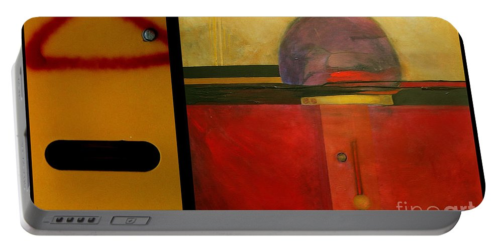 Marlene Burns Portable Battery Charger featuring the painting p HOTography 37 by Marlene Burns