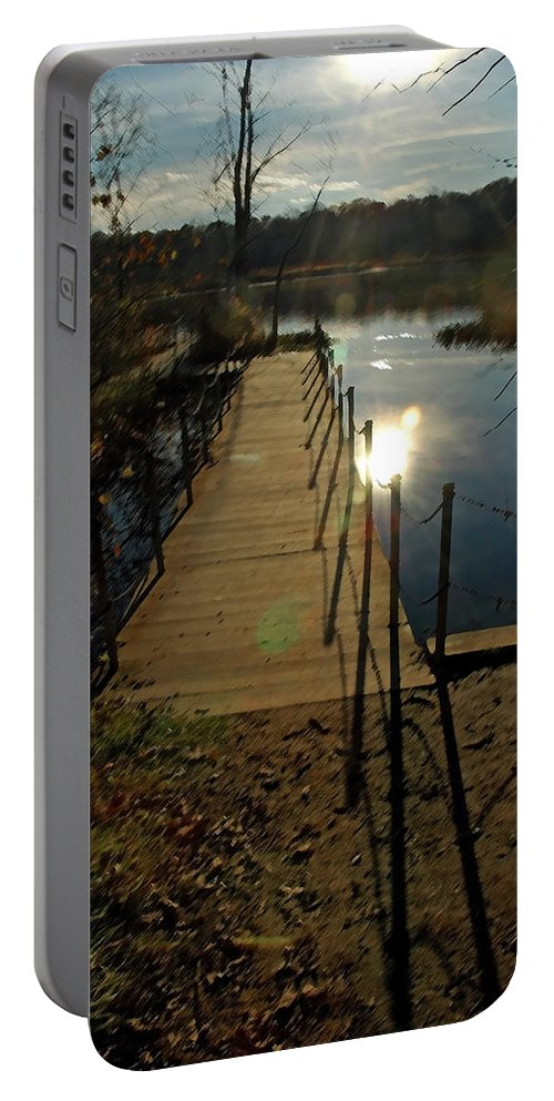 Usa Portable Battery Charger featuring the digital art Painted In Light by LeeAnn McLaneGoetz McLaneGoetzStudioLLCcom