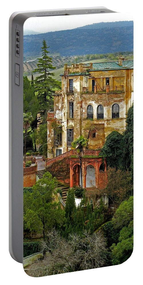 Europe Portable Battery Charger featuring the photograph Palace Of The Arabian King - Ronda by Juergen Weiss