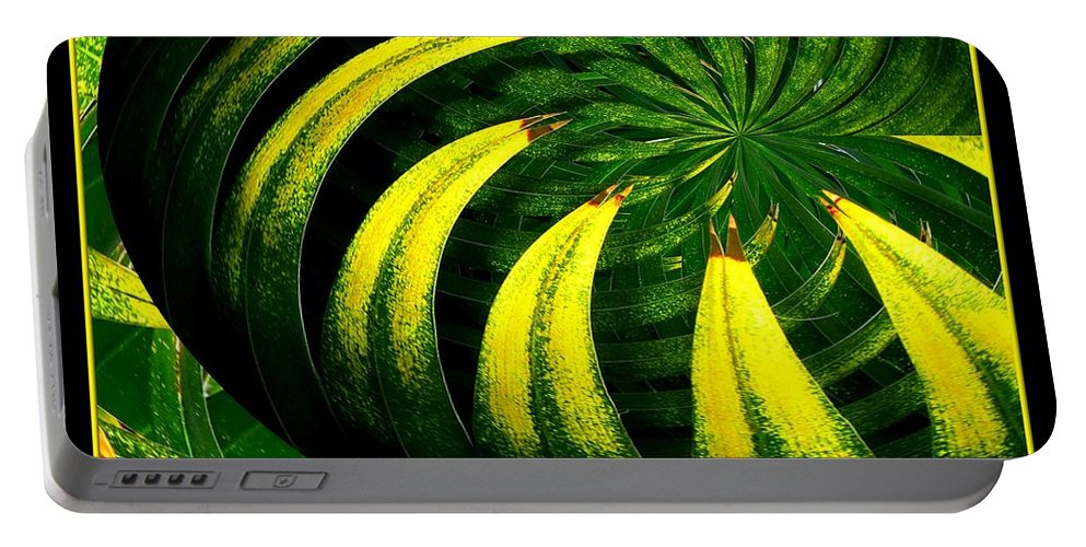 Palm Tree Portable Battery Charger featuring the photograph Palm Tree Abstract by Rose Santuci-Sofranko