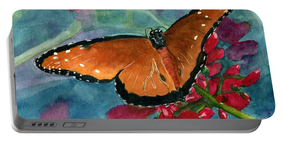 Butterfly Portable Battery Charger featuring the painting Papilio Fandango by Lynne Reichhart