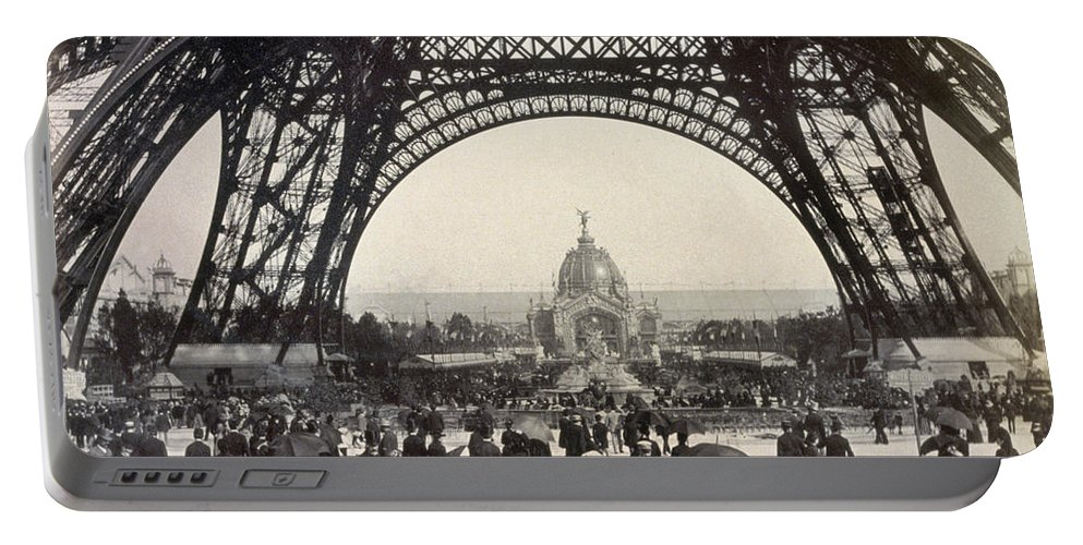 1889 Portable Battery Charger featuring the photograph Paris Exposition, 1889 by Granger