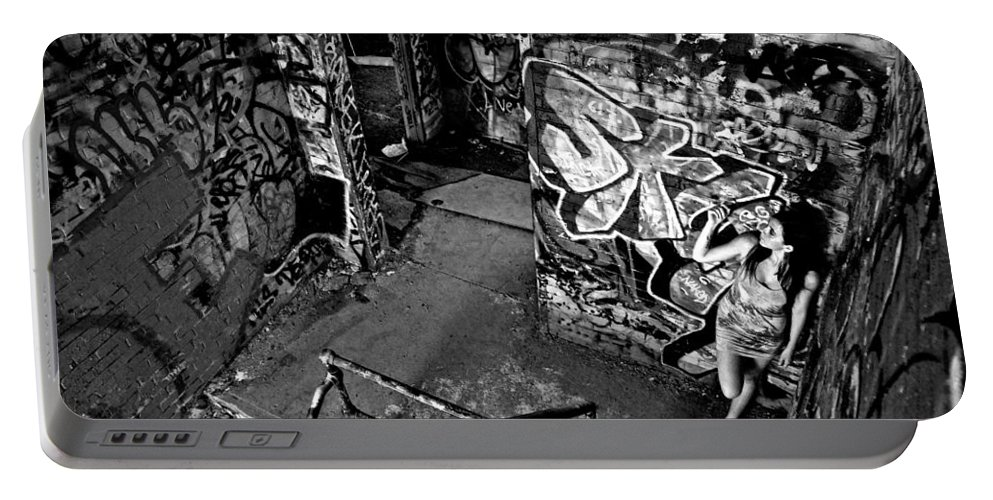 Graffiti Portable Battery Charger featuring the photograph Part Of The Wall by Valerie Rosen