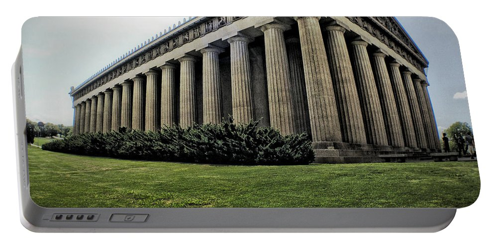 Parthenon Portable Battery Charger featuring the photograph Parthenon by Matt Zerbe