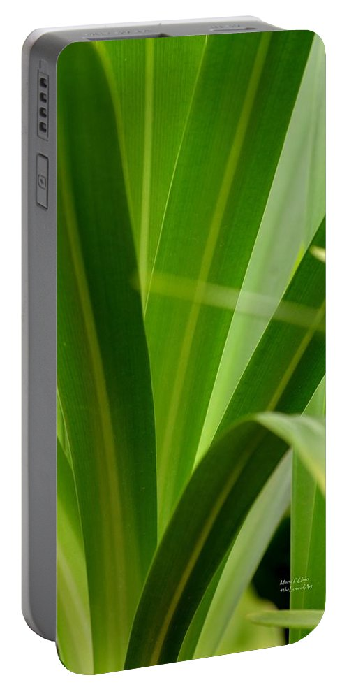 Particularly Portable Battery Charger featuring the photograph Particularly Green by Maria Urso