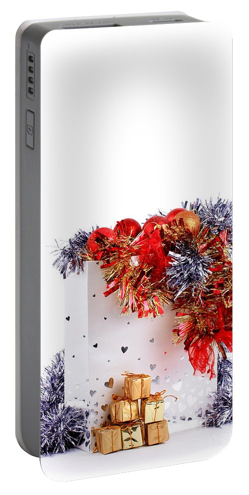 Party Portable Battery Charger featuring the photograph Party Decorations In A Bag by Simon Bratt Photography LRPS