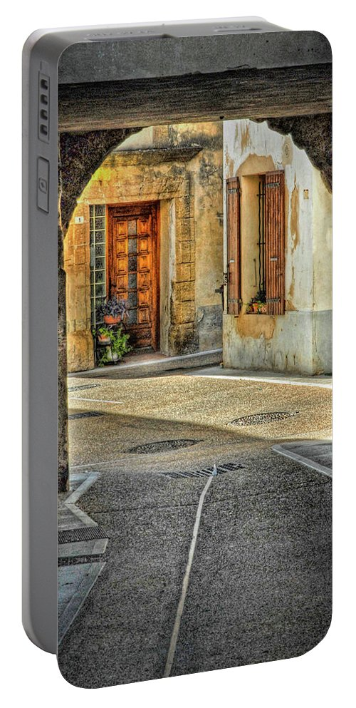 Provence Portable Battery Charger featuring the photograph Passageway And Arch In Provence by Dave Mills