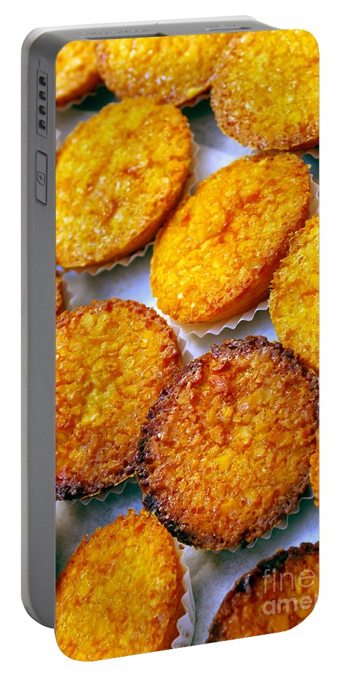 Bake Portable Battery Charger featuring the photograph Pastry Cakes by Carlos Caetano