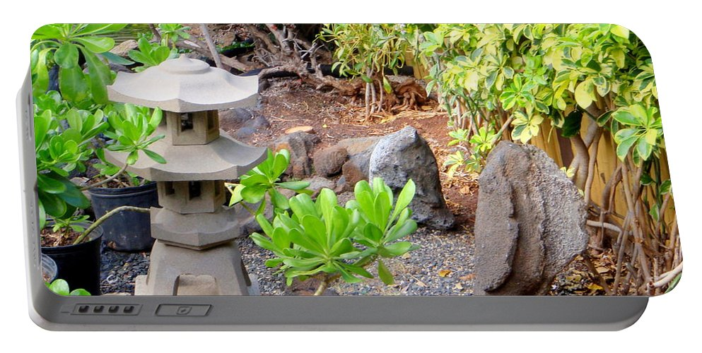 Garden Portable Battery Charger featuring the photograph Path To The Waterfall by Mary Deal