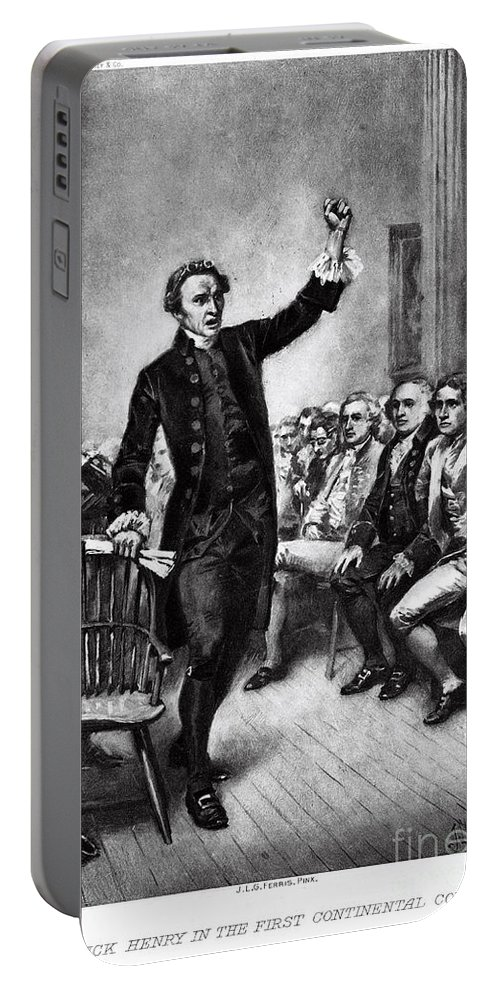 History Portable Battery Charger featuring the photograph Patrick Henry, American Patriot by Photo Researchers