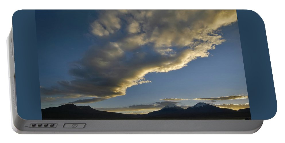 Mountains Portable Battery Charger featuring the photograph Payachatas Mountains. Republic Of Bolivia. by Eric Bauer