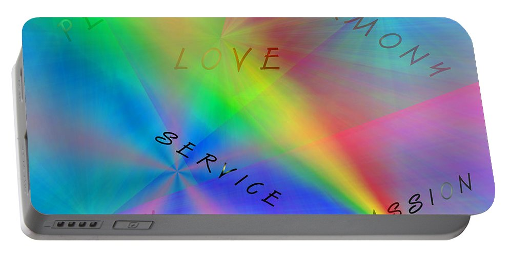 Peace Canvas Prints Portable Battery Charger featuring the digital art Peace Aspirations by Marie Jamieson