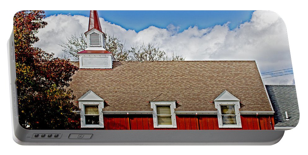 Peddlar's Portable Battery Charger featuring the photograph Peddler's Loft by Tom Gari Gallery-Three-Photography