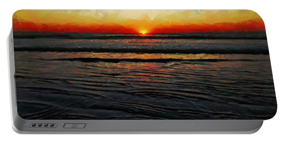 Sun Portable Battery Charger featuring the photograph Peeking Over The Horizon by Steve Taylor